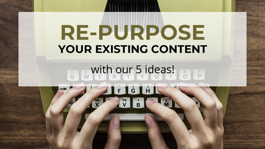 Re-Purpose Your Existing Content